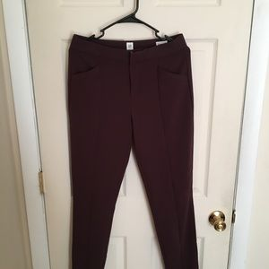 GAP Pants - Gap women's dress pants size 6 tall maroon